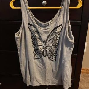 Cato's butterfly tank top size 14/16 -CUTE